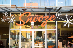 Snooze storefront at Hillcrest location in San Diego, California.